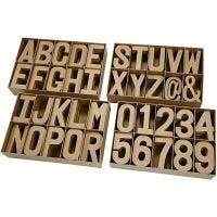 Buchstaben und Zahlen, H: 20,50 cm, Dicke 2,5 cm, 160 Stk/ 1 Pck