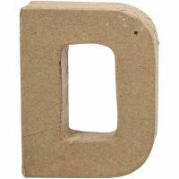 Buchstaben, D, H: 10 cm, B: 7,7 cm, Dicke 1,7 cm, 1 Stk