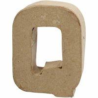 Buchstaben, Q, H: 10 cm, B: 7,8 cm, Dicke 1,7 cm, 1 Stk