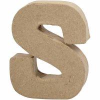 Buchstaben, S, H: 10 cm, B: 8 cm, Dicke 1,7 cm, 1 Stk