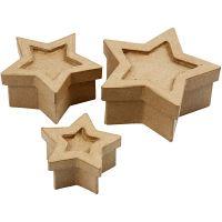 Schachtel in Sternform, Größe 15x15x6 cm, 3 Stk/ 1 Set