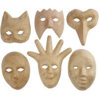 Masken, H: 12-21 cm, 6 Stk/ 1 Pck
