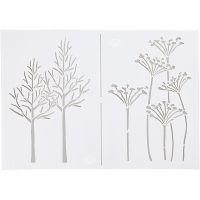 Schablone, Herbst, A4, 210x297 mm, 1 Stk