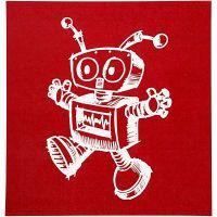 Siebdruck-Schablonen, Roboter, 20x22 cm, 1 Bl.