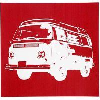 Siebdruck-Schablonen, Bus, 20x22 cm, 1 Bl.