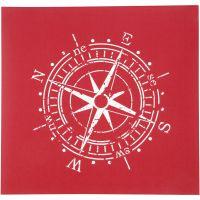 Siebdruck-Schablonen, Kompass, 20x22 cm, 1 Bl.