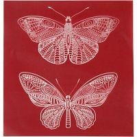 Siebdruck-Schablonen, Schmetterlinge, 20x22 cm, 1 Bl.
