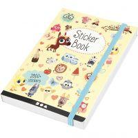 Sticker-Buch, Größe 11,5x17 cm, 1 Stk