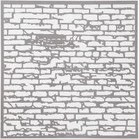 Schablone, Backsteinmauer, Größe 30,5x30,5 cm, Dicke 0,31 mm, 1 Bl.