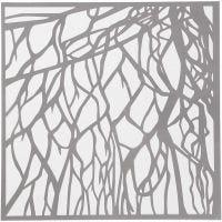 Schablone, Wurzeln, Größe 30,5x30,5 cm, Dicke 0,31 mm, 1 Bl.