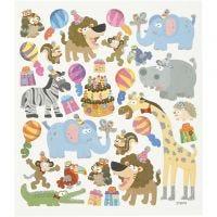 Sticker, Tier-Geburtstag, 15x16,5 cm, 1 Bl.