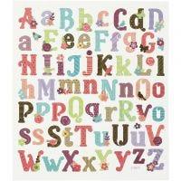 Sticker, Alphabet, 15x16,5 cm, 1 Bl.