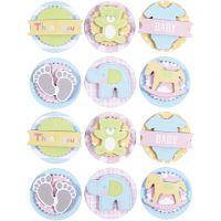 3D-Sticker Baby, Baby, D: 35 mm, 1 Bl.