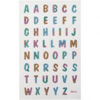 Glitzer-Sticker, Buchstaben, 10x16 cm, 1 Bl.