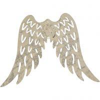 Flügel, H: 6 cm, B: 7,5 cm, 5 Stk/ 1 Pck