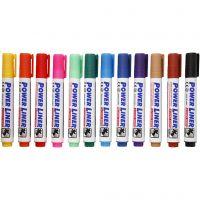 Whiteboard Marker, Strichstärke 4 mm, Sortierte Farben, 12 Stk/ 1 Pck