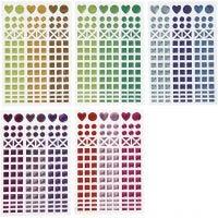 Mosaik-Sticker, D: 8-14 mm, 11x16,5 cm, Sortierte Farben, 10 Bl./ 1 Pck