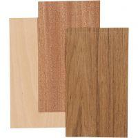 Bambus-Furnierplatten, 12x22 cm, Dicke 0,75 mm, 3 Bl./ 1 Pck