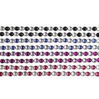Strasssteine zum Aufkleben, L: 15 cm, B: 4 mm, Schwarz, Blau, Flieder, Rot, 8 Bl./ 1 Pck
