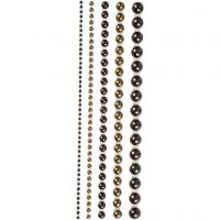 Halbperlen, Größe 2-8 mm, Braun, 140 Stk/ 1 Pck
