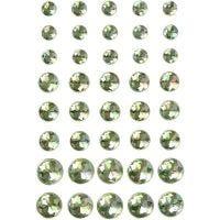 Strasssteine, Größe 6+8+10 mm, Grün, 40 Stk/ 1 Pck