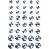 Strasssteine, Größe 6+8+10 mm, Blau, 40 Stk/ 1 Pck