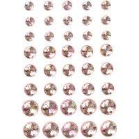Strasssteine, Größe 6+8+10 mm, Pink, 40 Stk/ 1 Pck