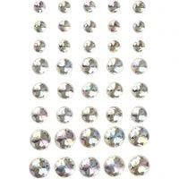 Strasssteine, Größe 6+8+10 mm, Kristall, 40 Stk/ 1 Pck
