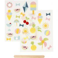 Rub-on Sticker, Urlaub, 12,2x15,3 cm, 1 Pck