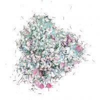 Pailetten-/Glitter - Sortiment, Pastellfarben, 170 g/ 1 Dose