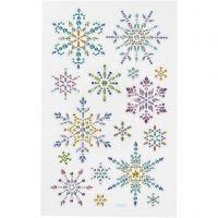 Diamant-Sticker, Schneeflocken, 10x16 cm, 1 Bl.