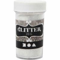 Glitter, Weiß, 20 g/ 1 Dose