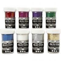 Glitter, Sortierte Farben, 8x20 g/ 1 Pck