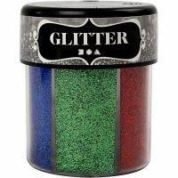 Glitter, Sortierte Farben, 6x13 g/ 1 Dose