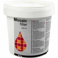 Mosaik-Fugenfüller, Weiß, 1000 ml/ 1 Eimer