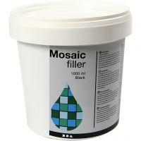 Mosaik-Fugenfüller, Schwarz, 1000 ml/ 1 Eimer