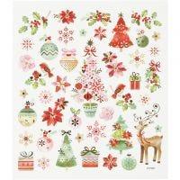 Sticker, Romantische Weihnachtszeit, 15x16,5 cm, 1 Bl.