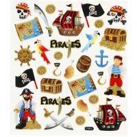 Sticker, Piraten, 15x16,5 cm, 1 Bl.