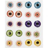 3D-Augen-Sticker, D: 20 mm, 1 Bl.
