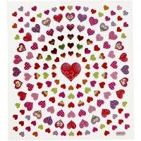 Sticker, Kleine Herzen, 15x16,5 cm, 1 Bl.