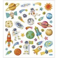 Sticker, Weltraum, 15x16,5 cm, 1 Bl.