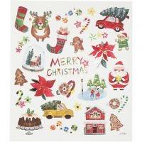 Sticker, Alles Weihnachten, 15x16,5 cm, 1 Bl.