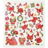Sticker, Happy Santa Claus, 15x16,5 cm, 1 Bl.