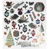 Sticker, Weihnachten antik, 15x16,5 cm, 1 Bl.