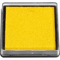 Stempelkissen, Größe 40x40 mm, Gelb, 1 Stk
