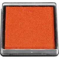 Stempelkissen, Größe 40x40 mm, Orange, 1 Stk