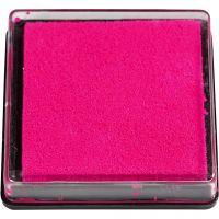 Stempelkissen, Größe 40x40 mm, Pink, 1 Stk