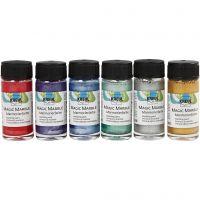 Marmorierungsfarbe Magic Marble, Metallic-Farben, 6x20 ml/ 1 Pck