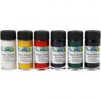 Marmorierungsfarbe Magic Marble, Standard-Farben, 6x20 ml/ 1 Pck