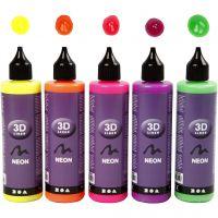 3D Liner, Neonfarben, 5x100 ml/ 1 Pck